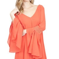 Alice Bell Sleeves Dress - Coral
