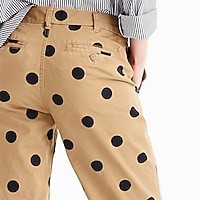 Women's Boyfriend Chino Pant In Polka Dot - Women's Pants | J.Crew