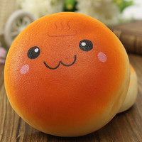 Super Cute&Lovely Jumbo 10cm Smile Marshmallow Bun Squishy Phone Charm Pendants
