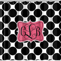 Personalized Monogramed Shower Curtain