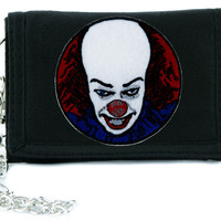 Pennywise Stephen King It Clown Tri-fold Wallet Alternative Clothing Horror Movie