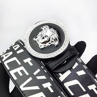 Versace printed figure buckle belt hot seller for casual belts for men and women #2