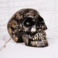 Carved Skull Money Bank at Urban Outfitters