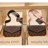 LV multi pochette three in one mahjong bag three piece