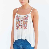 Ecote Rhapsody Embroidered-Yoke Cami