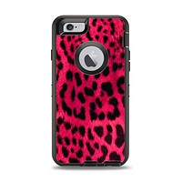 The Fuzzy Real Pink Leopard Print Apple iPhone 6 Otterbox Defender Case Skin Set