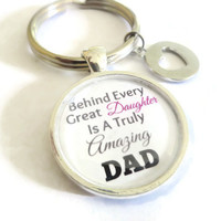 Dad Keychain ~ Valentine Day Gift for Dad from daughter , Birthday Gift for dad , Father's day tokens , Gift for new dads , Daddy Keychain