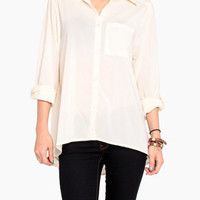 Silky Loose Blouse in Cream