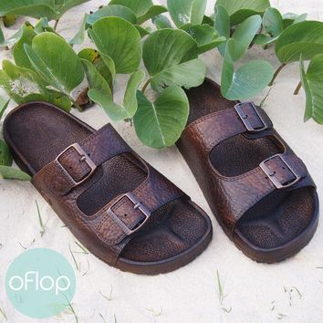Brown Buckle Jandals ® - Pali Hawaii Hawaiian Jesus Sandals