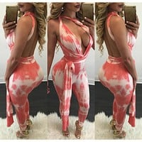 Summer Sleeveless Rompers Womens Jumpsuit Printed Bodycon Jumpsuit Plus Size Bandage Jumpsuits And Rompers Bodysuit for Women