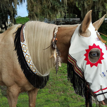 American Indian Style Regalia Costume for Horse - Regalia for Horse - Equine Native American Style Costume