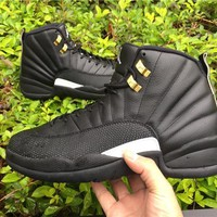 Nike Air Jordan 12 The Master With Receipt XII Retro Black Masters 130690-013 Basketball Sneaker