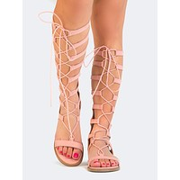 Lace Up Gladiator Sandals