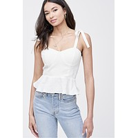 Sweetheart Self Tie Top