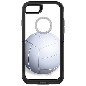 DistinctInk™ OtterBox Commuter Series Case for Apple iPhone or Samsung Galaxy - White Volleyball