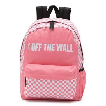 VANS trend sports skateboard stitching solid color fashion canvas backpack