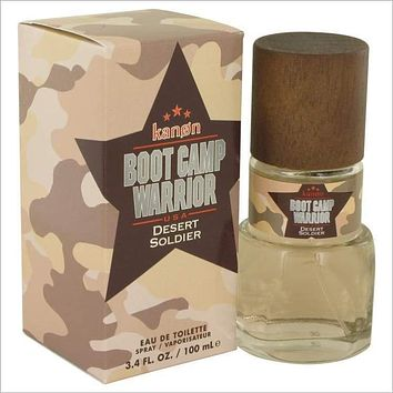 Kanon Boot Camp Warrior Desert Soldier by Kanon Eau De Toilette Spray 3.4 oz for Men