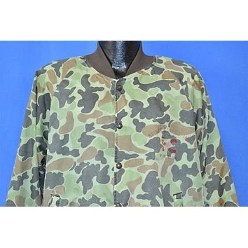 90s Green Cloud Camo Spinks Clay Satin Jacket Extra Large