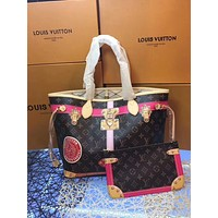 LV Louis Vuitton MONOGRAM CANVAS PRINTING NEVERFULL HANDBAG TOTE BAG