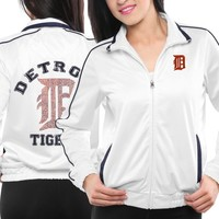 Touch by Alyssa Milano Detroit Tigers Ladies Tag Up Full Zip Track Jacket - White