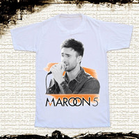 Size S -- MAROON 5 Adam Levine Shirts Music Shirts Alternative Rock Shirts Unisex T Shirts Women T Shirts White T Shirts Pop Rock T Shirts
