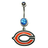 Chicago Bears - Belly Button Ring - Dangle
