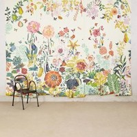 Nathalie Lete Great Meadow Mural in Yellow Size: One Size Wall Decor