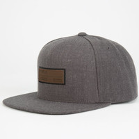 Rvca Frames Mens Snapback Hat Charcoal One Size For Men 24503411001