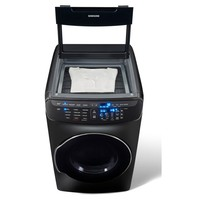 Samsung 7.5 Total cu. ft. Electric FlexDry Dryer with Steam in Black Stainless Steel-DVE55M9600V - The Home Depot