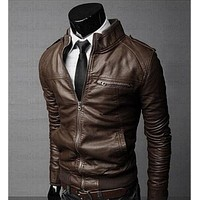 Mens Leather Jackets Men Jacket High Quality Classic Motorcycle Bike Cowboy Jackets Male Plus Thick Coats