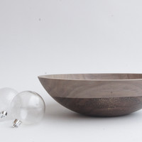 "12"" Walnut Wood, Sparkle Bowl"