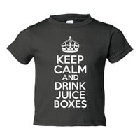 Keep Calm & Drink Juice Boxes Infant Graphic Keep Calm Juice Box On Toddler T Shirt