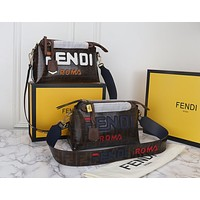 FENDI WOMEN'S LEATHER BY THE WAY BOSTON HANDBAG SHOULDER BAG