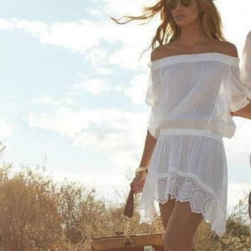 Boho beach cover up dress