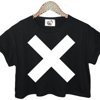 THE XX top crop t shirt tank retro hipster swag dope yolo vtg punk handmade womens funny dope fashion custom music band fcuk joke