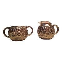 Pre-owned Antique Sterling Repousse Sugar & Creamer