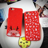 Apple Christmas Iphone Phone Case Matte Silicone Phone Case Iphone 6Plus [8365215041]
