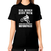 Dirt bike Unisex T-Shirt (on woman)