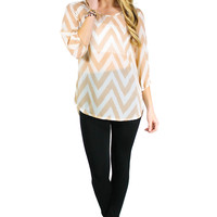 Sheer Bliss Blouse - Beige