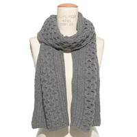 Merino Cablelink Scarf - scarves, hats, & gloves - Women's ACCESSORIES - Madewell