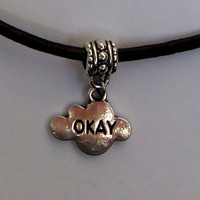 Fandom choker, TFiOS, okay cloud charm, the fault in our stars inspired necklace
