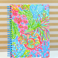 LILLY PULITZER: Mini Notebook - Lovers Coral