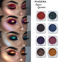 Ezra Fong Hot Sale Shimmer Eye Glitter Makeup Powder 12 Colors Waterproof Long Lasting Gold Red White Blue Eyes Palette Recommend