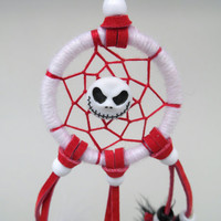 Jack Skellington dreamcatcher-extra small white and red-Nightmare Before Christmas