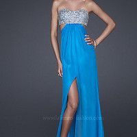 Prom Dresses, Celebrity Dresses, Sexy Evening Gowns at PromGirl: Long Beaded Bodice Dress