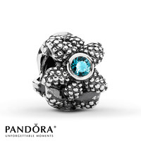 Pandora Sea Star Charm Synthetic Spinel Sterling Silver