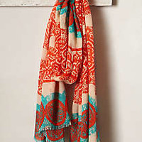 Pillahuinco Scarf by Anthropologie Coral One Size Scarves