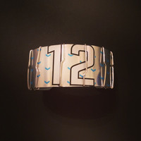 Upcycled 12th Man Beer Can Bracelet. Seattle Seahawks fans. Recycled Jewelry