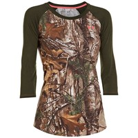 Under Armour Charged Cotton Camo 3/4 Tee - Women's