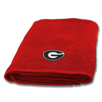 Georgia Bulldogs NCAA Applique Bath Towel